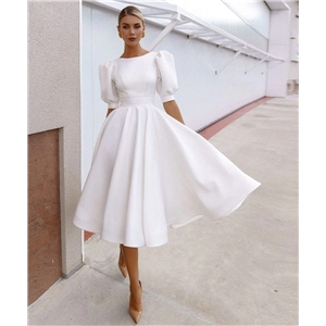 Sexy dresses for women summer solid color slim-fit dress with big swing short-sleeved midi dress