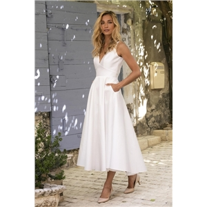 Sexy women's clothes white mid-waist slim solid color dress open back dress