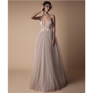 Ladies bridal wedding dress banquet suspenders bridesmaid dress