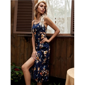 Summer cute women clothes fresh and sweet a-line skirt printed suspender dress