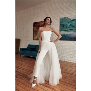 Summer women's clothes sexy bandeau sleeveless slim fit jumpsuit